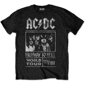 AC/DC T-Shirt Highway To Hell World Tour 1979/1980 GRÖSSE L Neu