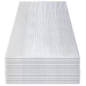 karpal 14x Polycarbonat Hohlkammerstegplatten (60.5 x 121cm) 4mm | 10,25 m2 Doppelstegplatte fuer Gewaechshaus, Garten Treibhaus Ersatzplatten¡