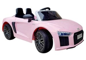 Kinderauto Audi R8 V10 Cabrio Pink elektrisch 12V Elektroauto Kinder rosa Kinderfahrzeug