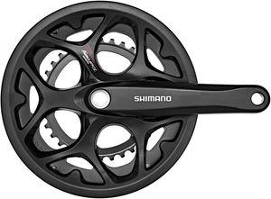 Shimano Tourney FC-A070 Kurbelgarnitur 7/8-fach Kettenschutzring schwarz Kurbelarmlänge 170mm