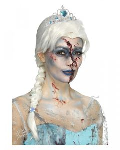 Zombie Eiskönigin Perücke als schaurig-schönes Kostümzubehör für Halloween