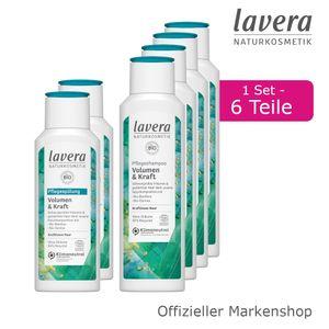 6tlg. lavera Volumen & Kraft Shampoo Spülung Haarpflege Bio-Bambus & Bio-Quinoa