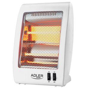 Adler Quarz Infrarot Heizung | Heizgerät | Elektro Heizung | Heizstrahler | Elektroheizung | Überhitzungsschutz | Tragegriff | 400/800 Watt |