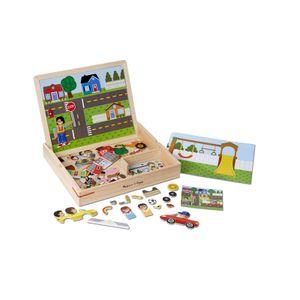 Magnetisches Bilder-Übereinstimmungsspiel aus Holz