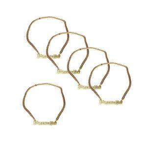 Jägermeister Goldkette Halskette aus Metall (kein echtes Gold) Aktion - 5 Stück