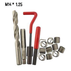 15 Stuecke Metrische Gewinde Repair Insert Kit M5 M6 M8 M10 M12 M14 Helicoil Car Pro Spule Werkzeug M14 * 1,25