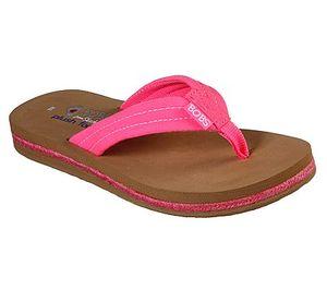 BOBS by Skechers Damen Flip Flop BOBS SUNSET NEON SUMMER 57116/NPNK pink, Damen Größen:39, Farben:pink