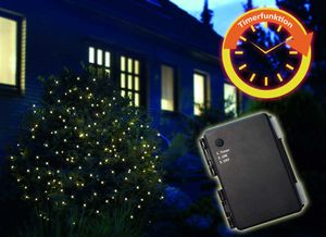 FHS LED-Batterie-Netz außen 160er, 3,2 x 1,5 m mit Timer für 3 x AA ***NEU***