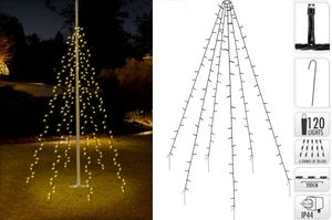 LED Lichterkette 120 LEDs Weihnachtsbaumbeleuchtung 2m Baum Beleuchtung Kegel