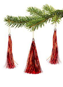10 Lamettini Rot Lametta Anhänger Weihnachtsanhänger