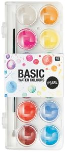 Rico Design Basic Pearl Water Colours Wasserfarbkasten 12 Farben