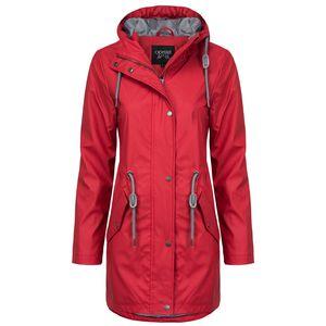 ODYSSEE Damen Regenmantel , Farbe:rot, Größe:L