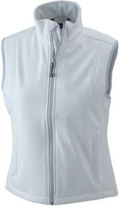 Softshellweste JN138 Ladies' Softshell Vest Trendige Damen Weste  , Größe:L, Farbe:OffWhite