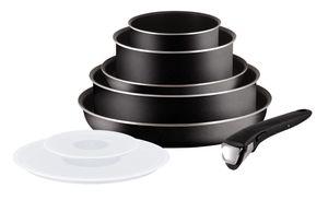 Tefal Ingenio 5 Essential L20099, Schwarz, Aluminium, PowerGlide, Schwarz / Aluminium, Thermo-Punkt, Abnehmbar