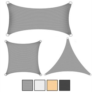 Sonnenschutzsegel Schattenspender Sonnensegel 3 x 3 m Segel HDPE beige Quadrat
