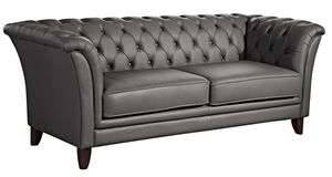 Max Winzer Norfolk Sofa 2-Sitzer - Farbe: graphit - Maße: 169 cm x 86 cm x 78 cm; 2965-2100-9363063-F07