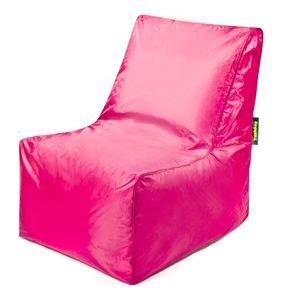 Pushbag - Sitzsack Block - Bezug Oxford in Pink- 75cm