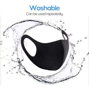 Geruchsneutrale Reitstaub- und Antibeschlag-Schwammmaske Schwarz 1PC