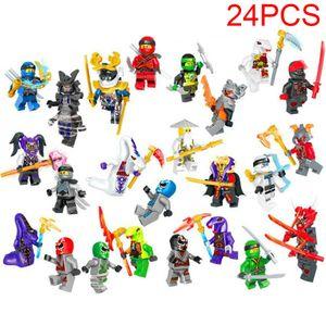 CUIFULI 24 Stk Ninjago Mini Figures Kai Jay NYA Sensei Wu Kinder Building Blocks Toys Sonstige Spielzeugfiguren