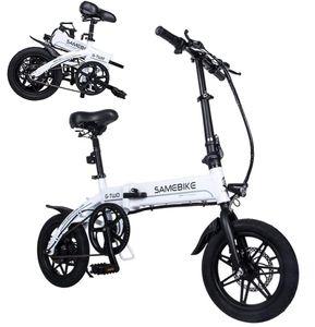 SAMEBIKE 14 Zoll E-Klapprad E-Bike Elektrofahrräder Citybike 250W 36V 7.5AH 25km/h mit LED-Licht, Max Bis 100kg