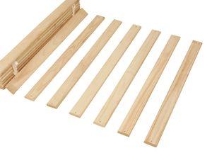 Lattenrost Rolllattenrost Rollrost Bettrost Holzlatten Einzelbett 90 cm breit Massivholz