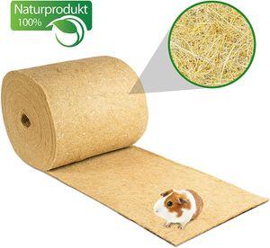 Nagerteppich aus 100% Hanf auf Rolle mit 25m Länge, 40cm Breite, 5mm dick  Hanfteppich für alle Arten Kleintiere, Hanfmatte Nagermatte Nager-Teppich Einstreu-Ersatz
