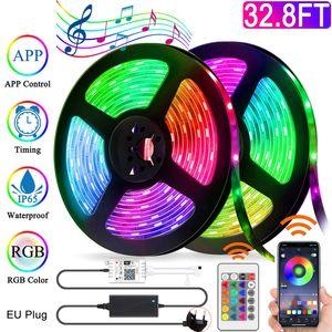 32.8ft 2Rollen IP65 WIFI CONTROL RGB LED Stripe 5050 SMD Leiste Streifen Band Licht Leuchte Lichterkette