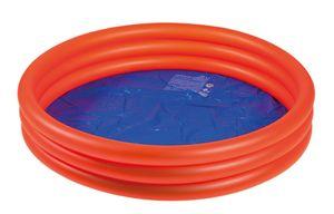 Happy People PVC-Pool mit 3 Ringen rot 125x25cm