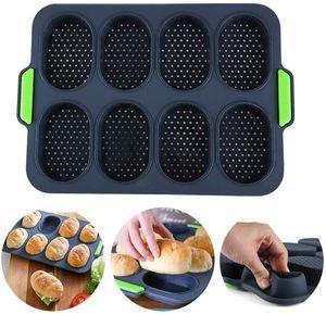 Brötchen Backform 8 Einheiten Silikon Backformen Perfekt Backt French Bread Breadstick und Brötchen mit Köstlichen Knusprigen Krusten