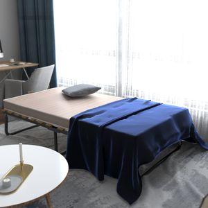 COSTWAY 190 x 80cm Gästebett mit Memoryschaum Matratze, Einzelbett klappbar, Metallbett bis 90KG belastbar, Klappbett mit Lattenrost, Faltbett für Büro, Schlafzimmer und Gästezimmer