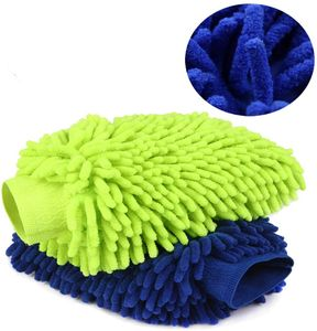 Waschhandschuh Autowaschhandschuh,Weicher Korallen Auto Chenille Waschhandschuh Handschuh mit für Autowäsche Perfekt für die Nassreinigung