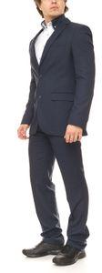 CLASS INTERNATIONAL Business-Anzug eleganter Anzug für Herren mit Brustleistentasche schlanke Größen Blau, Größe:102