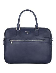 David Jones - Herren Leder Stil Aktentasche - Mann Business Handtasche - Arbeitstasche Laptop 15 Zoll Tasche - A4  Schultertasche Umhängetasche Messenger Bag - Schultasche Arbeit Büro - Blau