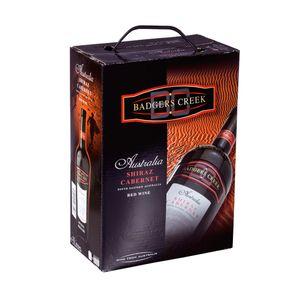 Bag-in-Box - Australie - Shiraz Cabernet -  Rotwein - Badgers creek 3 L., Box mit:1 Box