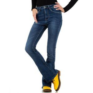 Ital-Design Damen Jeans Bootcut Jeans Blau Gr.xs/34