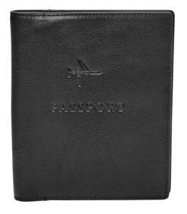 FOSSIL Passport Case Black