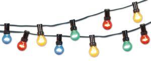 Näve Außen-Lichterkette - Kunststoff, Gummi - Leuchtmittel: bunt (3x rot, 3x gelb, 2x grün, 2x blau); Kabel: grün; 5151761