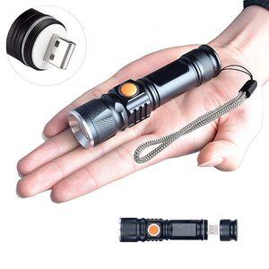 Starke LED USB Taschenlampe Lampe Polizei Swat Wiederaufladbare Cree 1200 Lumen