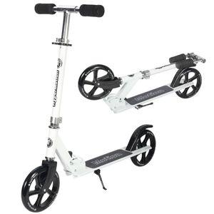 Tretroller Kickscooter für Erwachsene und Jugendliche Klappbar und Höhenverstellbar - City-Roller in Weiß