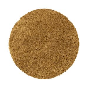 Teppium Hochflor Teppich, Wohnzimmerteppich, Rund Shaggy, Soft Weich Rund, Farbe:GOLD,80 cm x 80 cm Rund