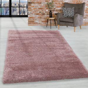 Super Soft Shaggy Hochflor Teppich Wohnzimmerteppich Flor Weich, Farbe:Rose, Grösse:160x230 cm