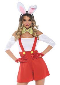 y Hasenkostüm Rabbit Hase Alice im Wunderland Kostüm Märchen Kaninchen Body M/L