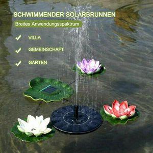 Solarbrunnen mit 1,2 W Solar Gartenbrunnen, Solarbrunnen Pumpe, kann für Garten, Vogelbad, Miniteich verwendet werden