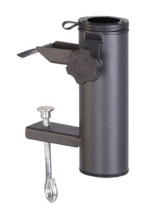 Balkon Schirmhalter in schwarz - BALCONY UMBRELLA HOLDER