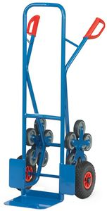fetra Stahlrohr Treppenkarre TK1327 2 fünfarmige Radsterne Speditionsversand