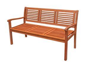 Eukalyptus Holz Bank 3-Sitzer Holzbank massiv Gartenbank Parkbank Sitzbank