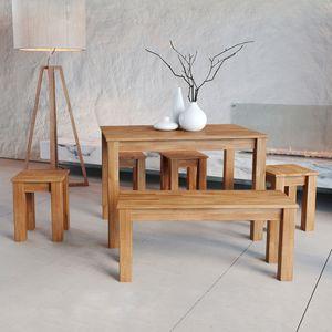 Krok Wood Esstisch Bonn aus Massivholz in Buche 110 x 75 x 75 cm