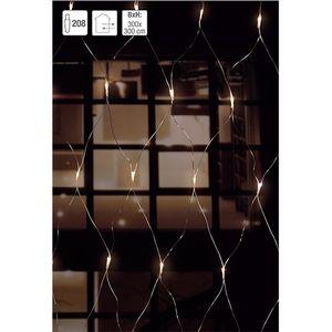LED 208 Lichternetz, warmweiß mit Blinkfuntion