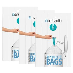 3x Brabantia Müllbeutel Spenderverpackung 20 l(F)Slimline 40 Stück