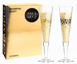 Champus Champagnergl. 2er Rosenkranz